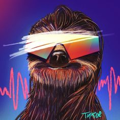 #illustration #sloth #trill - from @tykoe on Ello.