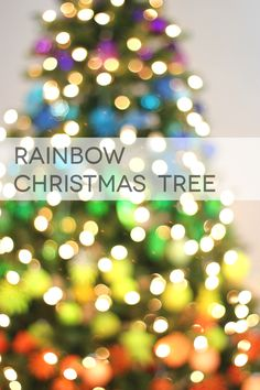 Rainbow Christmas Tree - MichaelsMakers Lines Across
