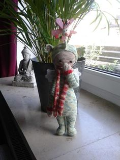 DIRK the dragon made by Tanja B. / crochet pattern by lalylala