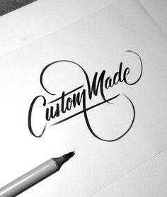 Unique twist on an elegant script font.