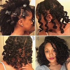 HAIRSPIRATION| Loving this #bantuknotout with 2-strand twists on @marie_amor ❤️ Gorgeous #curls ➰ #voiceofhair ✂️========================== Go to VoiceOfHair.com ========================= Find hairstyles and hair tips! =========================