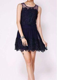 Charming A Line Black Vest Dress