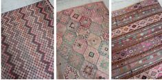 Just arrived on the webshop - 3 beautiful vintage kilim rugs. WWW.MARKWALDORF.DK