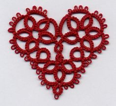 Christmas heart tatting pattern by Anne Bruvold