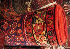 A Persian Carpet from a friend's shop. This inspired a series of polymer clay beads based on 'Magic Carpets'