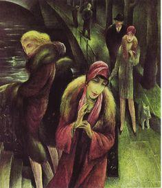 Waiting at the Bridge, Albert Birkle, 1931