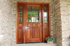 Entry doors with sidelights | Exterior Doors for Home Fiberglass Exterior Doors with Sidelights . . . can add warmth to your home.