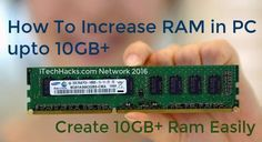 Increase RAM in PC 10GB  Easily 2017 Create Virtual RAM in PC 10GB  With Video Tutorial - make pc faster by increasing RAM in pc easilyRAM