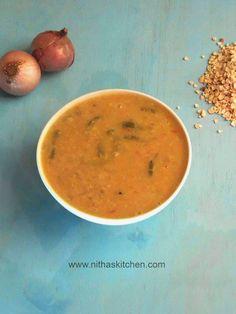 Nitha Kitchen: Thattai Paruppu Pudalangai Kuzambu | Red Chori Dal with Snake Gourd