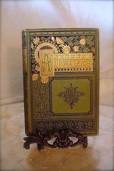 Elizabeth barret antique book images   vintage book, Aurora Leigh by Elizabeth Barrett Browning, Published ...