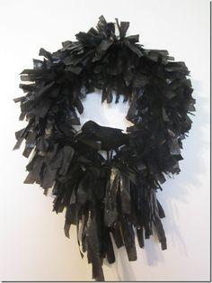 Black Crow Halloween Wreath