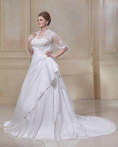 Свадебные платья для полных невест с рукавами