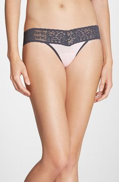 Women's Hanky Panky 'Logo To Go - Colorplay' Low Rise Thong - Pink