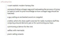 imagine book where someone sells an enchanted sword on craigslist and realizes…