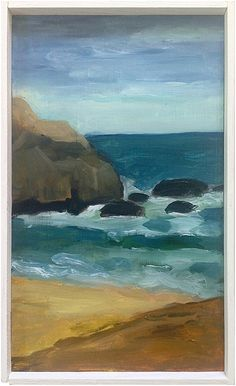 """""""Untitled (rocks)"""" by Marie Van Elder, $900, 7"""" x 12"""", available at #serenaandlily. #artcollection"""