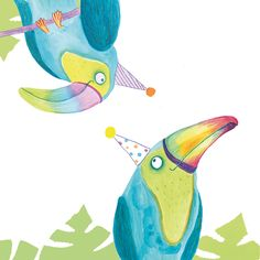 Illustration was initially created for a greetings card design but was then also used in my counting book 'Jungle Party'