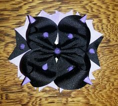 Gothic theme bow with spikes ...Journeys into bows