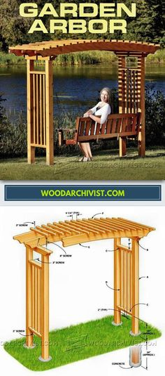Garden Arbor Plans - Outdoor Furniture Plans and Projects   WoodArchivist.com