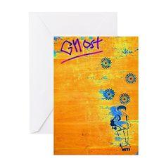 Ghost Greeting Card on CafePress.com