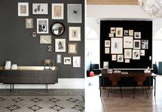 Décoration : des idées pour apprendre comment accrocher des photos et affiches encadrées pour réaliser un mur de cadres