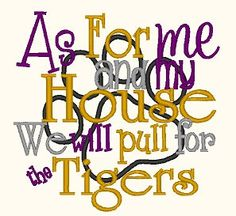 It almost feels sacrilegious...but then it totally doesn't. #GeauxTigers.