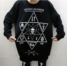East Knitting OT-002 harajuku style Star print hoodies Skull Cross sweatshirts 2015 winter new pullover plus size free shipping