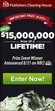 Hello, my friends … the exciting day is almost here! Tomorrow, April 30th, the Prize Patrol will wrap me — Lucky, the debonair PCH Big Check — in craft paper and escort me to the home of our newest millionaire! The TV cameras will be rolling to capture the dear winner's joy at seeing ME …