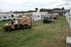 Convoy of 6 armour plated Land Rovers. That's the Operation Desert Storm at Delta Force Paintball centre in Coventry! #paintball