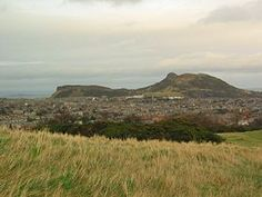 """Arthur's Seat, Edinburgh - Arthur's Seat is the main peak of the group of hills which form most of Holyrood Park, described by Robert Louis Stevenson as """"a hill for magnitude, a mountain in virtue of its bold design"""""""
