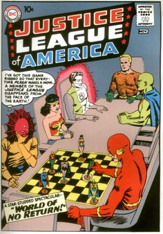 The first issue of The Justice League of America #1, Oct-Nov 1960.