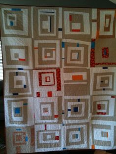 quilt - I'd do this in Japanese indigos and batiks or batik and black.