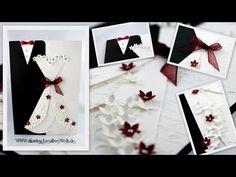 - Falling for You Wedding Card - JanB UK Stampin' Up! Scroll Wedding Invitations, Homemade Wedding Invitations, Wedding Invitation Cards, Diy Wedding Anniversary Cards, Wedding Gift Boxes, Muslim Wedding Cards, Wedding Congratulations Card, Wedding Cards Handmade, Diy Wedding Projects