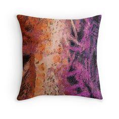 """Rough art"" Throw Pillows by floraaplus   Redbubble"