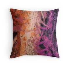 """Rough art"" Throw Pillows by floraaplus 