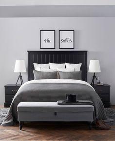 Una camera da letto dalle linee sobrie che ricorda una suite d'albergo - IKEA