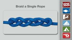Animation shows how to Braid a Single Rope from the world's #1 knot site - Animated Knots by Grog.