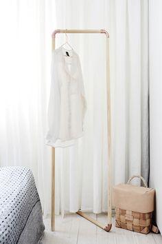 vaatenaulakko,vaaterekki,makuuhuone,diy,tee-se-itse