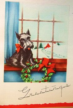Love us some Christmas Scottie dogs!