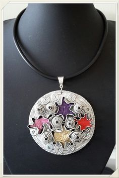 Etsy - Shop for handmade, vintage, custom, and unique gifts for everyone Recycled Jewelry, Quilling, Diy And Crafts, Recycling, Creations, Pendant Necklace, My Favorite Things, Magick, Etsy