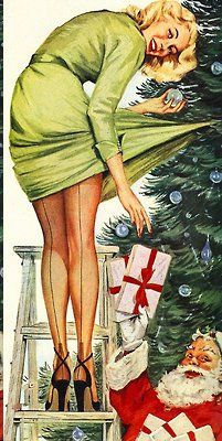 vintage Stocking Ad,Christmas 1950