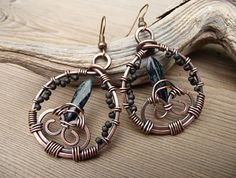 wire wrapped jewelry boho dangle earrings wire wrap