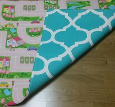 FREE DELIVERY Pink Car Track / Aqua Honeycomb 240x140x1cm