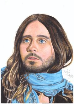 drawing of Jared Leto