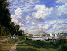 """""""The Marina at Argenteuil""""  by #monet #art #painting"""