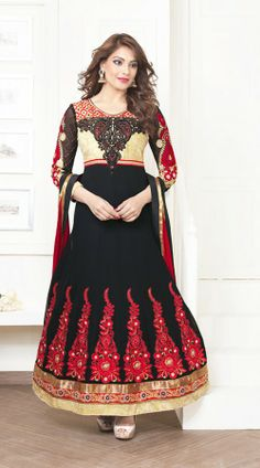 Bipasha Basu In Black Salwar Kameez BR100938