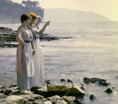 Autochrome: Lumière. Suzanne and Andrée Madeleine Light Lecques to the Gulf of La Ciotat. 1910. Collection Bibliothèque municipale de Lyon.