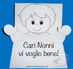 lavoretti creativi festa dei nonni da stampare - Cerca con Google Diy And Crafts, Crafts For Kids, Paper Crafts, Pop Up, Italian Lessons, School Daze, Mother And Father, Coloring For Kids, Baby Cards