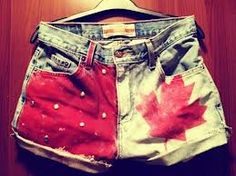 DIY canadian flag shorts for Canada day! American Flag Shorts, Kids Outfits, Cute Outfits, Summer Outfits, Semi Annual Sale, Canada Day, Perfect Wardrobe, High Waisted Shorts, Waisted Denim