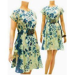Dress Batik Modern Terbaru DBD03 - Baju Batik Wanita Dress Modern - Toko Baju Batik Online