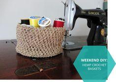 (weekend diy) crochet basket pattern
